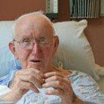 old man hospital bed