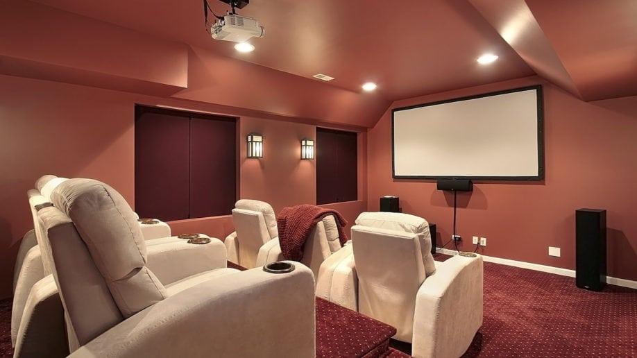 media room home projector